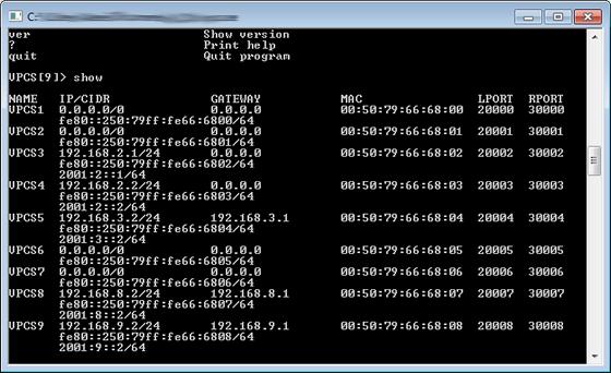 Configurando o VPCS