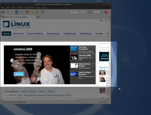 Aplicativo Linux Shutter   Captura