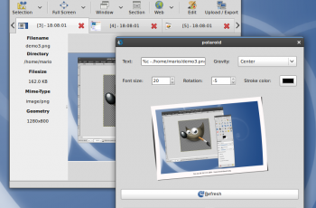 Aplicativo Linux Shutter | Efeitos