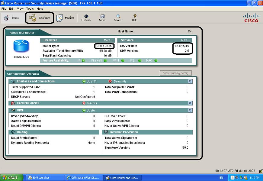 Cisco SDM para roteador