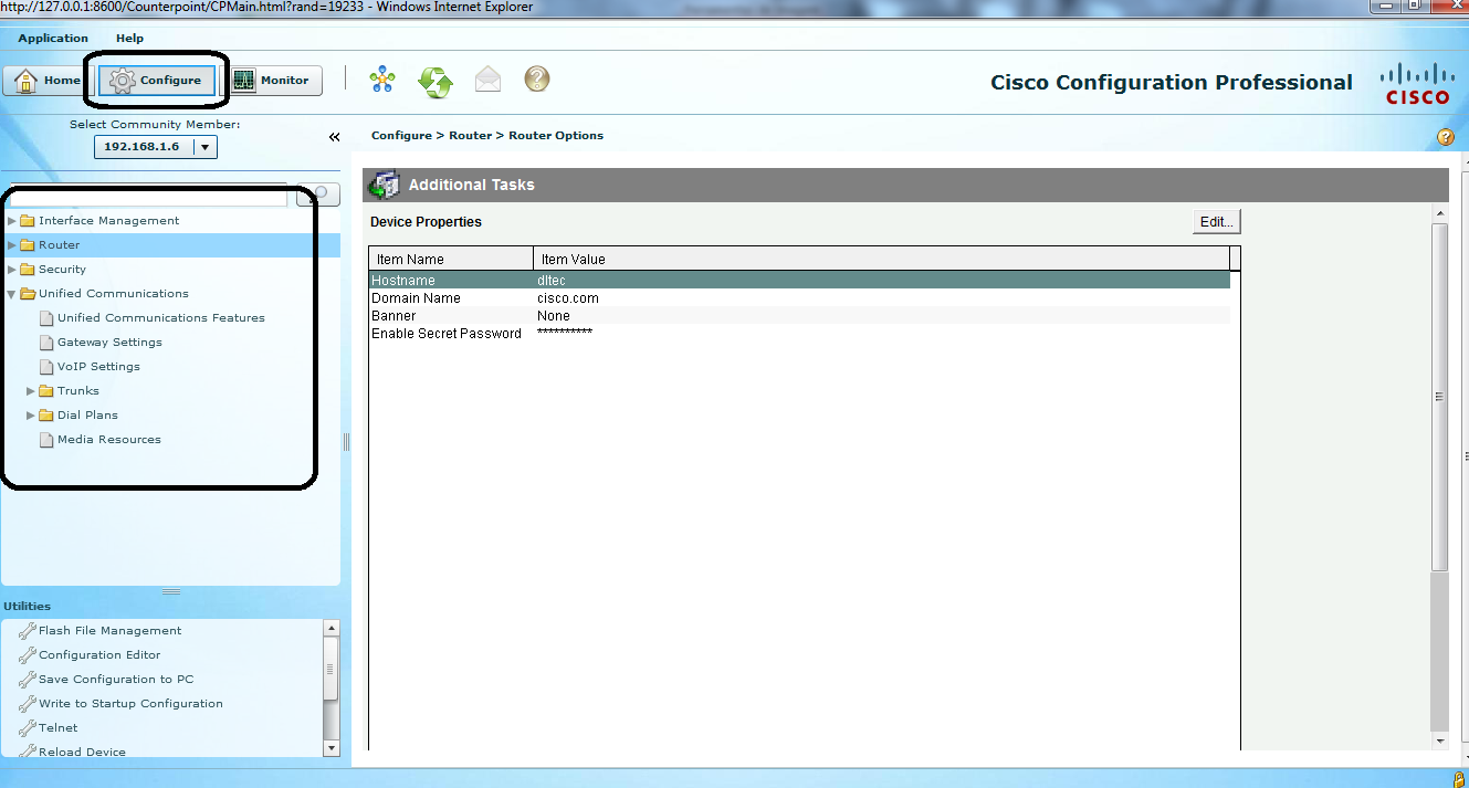 Cisco Configuration Professional