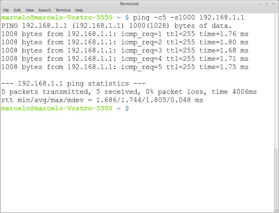 ICMP - Teste de ping Linux